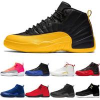 Klassische Günstige 12 12s Basketball-Schuhe Der Meister FIBA Spiel Royal Flu Spiel Deep Royal Blue Michigan o-schwarz Herren Sport-Turnschuhe