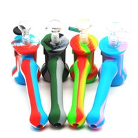 Tube usine pipe gros silicone Marteau-Forme barboteur barboteur Percolateur Water Pipe sec Herb tabac à pipe silicone Bong
