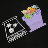 Flower Basket Dies Metal Cutting Dies New 2019 Scrapbooking Valentine's Day Decoration Craft Dies Cut for Card Making