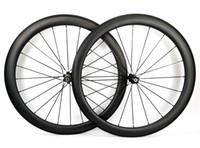 Rodas de carbono da estrada da profundidade de 700C 50mm clincher da bicicleta da largura de 25mm / rodado tubular do carbono com a borda do U-forma do cubo 271/372 de novatec