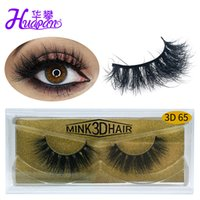 Nueva marca HUAPAN 3D Visitas pestañas pestañas Eye Lash Extension Sexy Eyelash Full Strip Eye Lashes Gold Package
