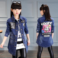 Unisex Boys Girls 5- 14 Years Hooded Casual Denim Coat Winter...