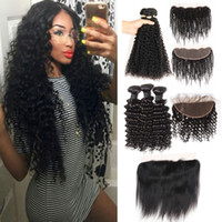 Cheap Peruvian Virgin Hair Bundles With Closure Straight Bod...