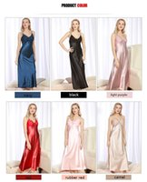 Women Ladies Fashion Satin Silk Sleepwear Sleep Shirts Night...