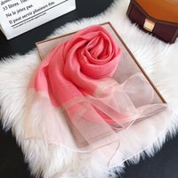 haute qualité de marque en gros 100% des femmes de la marque de soie portent l'été de luxe Foulards étiquette longue écharpe châle 180x70Cm