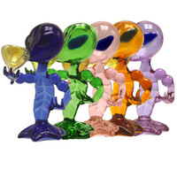 Alien Bong 5 colores Alien Glass Pipes Pink Blue Green Brown Purple Dab Rig Glass Pipe Beaker Bongs