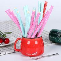 Cannuccia monouso biodegradabile Cannuccia ambientale colorata Cannuccia per bambini Festa di compleanno Decorazione Fornitura Bar Strumento DBC VT0630