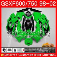 Cuerpo para Suzuki Katana Light Green GSXF 750 600 GSXF600 98 99 00 01 02 2HC.2 GSX750F GSX600F GSXF750 1998 1999 2000 2001 2002 Kit de carenización