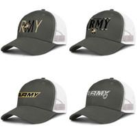 New York Army Black Knights football wordmark Marmo Stampa verde militare per gli uomini e le donne camionista palla berretto design personalizzato in esecuzione cappelli di maglia