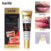 Instantânea volumising Lip Lip Hidratante Reparação Reduzir Lips linhas finas Brighten Lip Color Collagen Lip Plumper petróleo