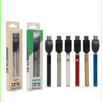 Lei Pré-aqueça o VV bateria inferior torção 350mAh Vertex Vape Pen Variable Voltage USB Charger Kit de bateria para 510 linha grossa Oil Cartuchos