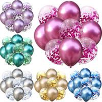 10шт смешанные золотые свадебные шар металлов Confetti воздушные шарики по случаю дня рождения украшения вечеринка для вечеринки поставляет бесплатная доставка
