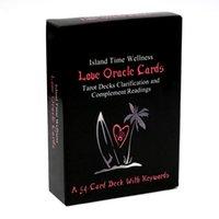54pcs جزيرة وقت العافية الحب أوراكل بطاقات التارو الطوابق توضيح واستكمال قراءات بطاقة سطح السفينة مع الكلمات الرئيسية ألعاب لعبة