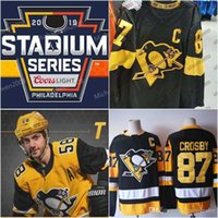 2019 Stadium Series Maillots Hommes 87 Sidney Crosby 59 Jake Guentzel 71 Evgeni Malkin 81 Phil Kessel 58 Kris Letang Penguins de Pittsburgh