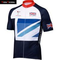2019 VIDATERRA 남자 사이클링 저지 로프 ciclismo 자전거 의류 영국 그레이트 브리튼 나는 영국 고전 의류 자전거 착용을 사랑합니다 야외 스포츠 행운