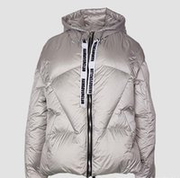 3 colours silver white women down coats hoody winter down fi...