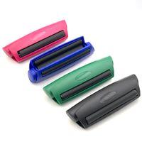 Plástico Manual Fabricante de cigarrillos Humo Tabaco Máquina rodante Mano Mano Semi-Automático Rodillo para 78mm Papel Fumar Accesorio