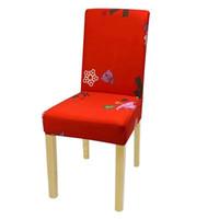 10colors Chaise de Noël Housses de Chaises Spandex Couverture extensible élastique à manger sièges chaises de couverture pour Banquet de Noël Décoration GGA2825
