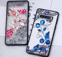 La nueva manera dura de la flor para Iphone 11promax XS MAX XR X 8 Galaxy S20 S10e S9 Plus Note9 floral de Paisley de la alheña Rose cubierta del teléfono
