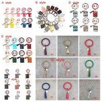 Bracelet Sac Carte Wallet Keychain Bracelet léopard sac à main en cuir Porte Bracelet Keychain Porte-carte de crédit avec Tassel ZZA2305