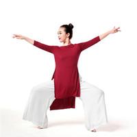 Sahne Giyim Latin Dans Elbise Uzun Kollu Bayan Balo Salonu Tango Elbiseler Cha Salsa Rumba Modern Kostümleri Giyim Yoga