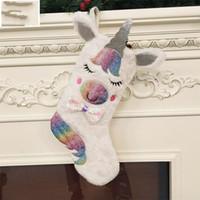 Pul Unicorn Büyük Noel Çorap Süslemeleri Renk Bez Kolye Opp Çeşitli Hediye Ile Ambalaj Hediye Çanta Moda 15 8jf J1