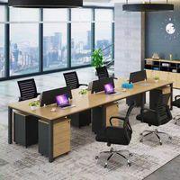 Фабрика на заказ современная комбинация простой персонал офисный компьютерный стол стол открытый рабочий офис стул мебель