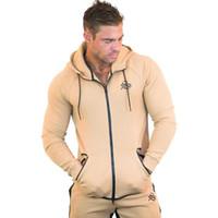 Neue Hoodies Mann Einfarbig Slim Fit High Street Kapuzenpulli Fitness Sportbekleidung Herren Herbst und Winter Hoodies
