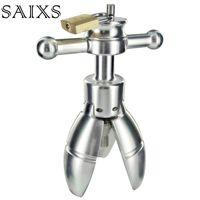 Dilatazione anale strumento open giocattolo adulto del sesso in acciaio inox spina anale con la serratura Espansione Ass Appliance giocattolo del sesso goccia Y191028 il trasporto