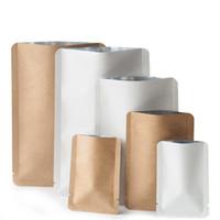 Sac en papier kraft plat ouvert top odeur sac d'emballage à l'odorat pour fleurs d'herbes sèches Food fruit à base de biscuits de biscuits de snacks runtz emballage de stockage