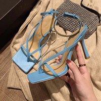 신발의 발 뒤꿈치 패션 여성 신발 하이힐 샌들 스트레치 샌들 여성 플립은 발목 스트랩 샌들 슬리퍼