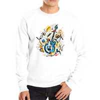 Hot sale cool Art hoodies love music hip hop streetwear fashion spring clothes personality guitar outwear cotton sweatshirt