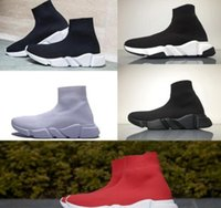 Balenciaga Sock shoes Luxury Brand casuales Zapatos Marca Speed ​​Trainer Negro Rojo Triple Negro Moda Calcetines Botas Zapatillas de deporte Zapatillas de deporte