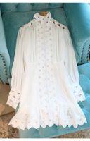2021 Neue Design Frauen Rollkragenlaterne Stil Langarm Royal Retro Slim Taille Aushöhlen Patchwork Mermaid Kleid Vestidos S M L
