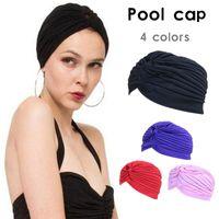 Women Swimming Pool Cap Multi-color  Headscarf Bonnet Caps for Yoga Outdoor Sports Cap Swimming Caps