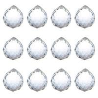 40mm Kristallkugel Prisma Kristallglaskugel Kronleuchter Dekoration hängen facettierte Prisma Kugeln Perlen Hochzeit Home Dekor