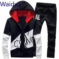 Waidx Männer Sets Sport-Klage-Trainingsanzug Outfit Anzug 5xl 2-teiliges Set Anzüge Hoodies lange Hosen Warm Herrenkleidung Drop Shipping CJ1191111