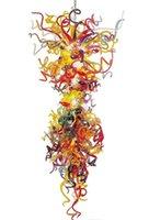 Lámpara Multicolor Gran araña Luz Dale Italia Estilo Lámparas Lámparas de Arte de Vidrio Colorido Iluminación para Decoración de la Casa