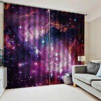 Vorhang für Wohnzimmer Schöne Raum Planet 3d Digital Printing HD Praktische Schöne Vorhänge