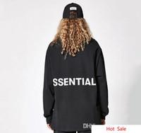 Wesensmerkmale Drucken Fear Of God Tees Männer Frauen High Street Fashion Lose Langärmelige T-shirt Liebhaber Hip Hop Frühling Herbst Pullover T-shirt Tops