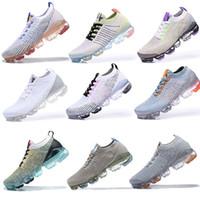 vapormax 2019 Flyknit 2.0 running shoes Laceless 2.0 Koşu Ayakkabı Üçlü Siyah Tasarımcı Erkek Kadın Sneakers Fly Beyaz örgü minder Eğitmenler Zapatos