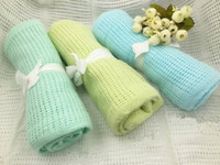 Spring and summer 80*100 baby grottoes soft blanket hollow c...