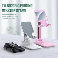 Sostenedor del soporte de Nueva plegable universal de plástico ajustable para teléfono celular móvil de la tableta soporte de escritorio sostenedor del soporte para Smartphone