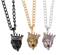 Lion Tag collares para hombre Collar cubano Full CZ Alloy Fashion Jewelry Micro Pave Iced Out link chain Para hombres Cadena de alta calidad New Fashion