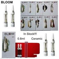 Bloom Vape Cartuchos 0.8ml Vapores de cerâmica Pen 510 Thread bateria Atomizadores de vidro espessura de óleo de vaporizer carrinhos de vaporizador de pvc de pvc e cigarros vazio