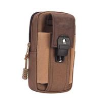 Открытый спорт оборудование работает сумка холст мужские карманы работает мобильный телефон мини-мешок носить ремень карманы