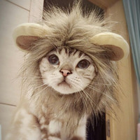 Cadılar bayramı Pet Aslan Yele Şapka Komik Sevimli Pet Kostüm Cosplay aslan Peruk Kap Kedi Noel Aksesuarları Aslan Şapka Parti Cosplay Şapkalar BH2341 TQQ