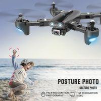 S167 Fernbedienung Flugzeuge, 4K HD 1080P Kamera 5G WIFI FPV Drones, GPS-Position, Surround Flight, Follow Me Modell UAV, Geste Photo, 3-1