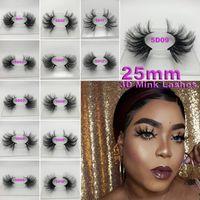 Super lange 25mm 3D 5D Nerz Wimpern dramatische echte Nerz Haarwimpern 25 mm handgemachte falsche Wimpern Augen Make-up Maquiagem