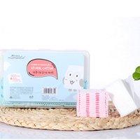 Desechable cojines de algodón fino 500pcs + Grueso 50pcs Combo algodón en caja Desmaquillador Wet Paquete de viaje portátil de maquillaje herramienta P1002